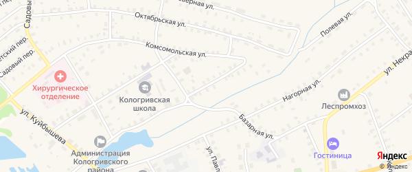Улица Новая Слобода на карте Кологрива с номерами домов