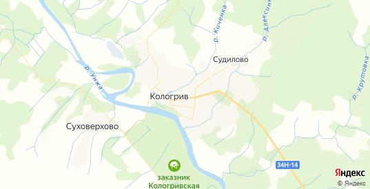 Карта Кологрива с улицами и домами подробная. Показать со спутника номера домов онлайн