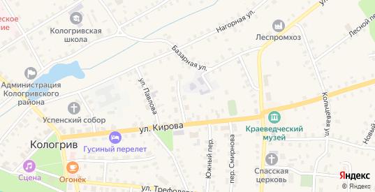 Театральный переулок в Кологриве с номерами домов на карте. Спутник и схема онлайн