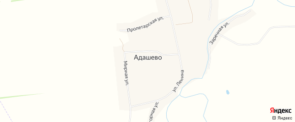 Карта села Адашево в Мордовии с улицами и номерами домов