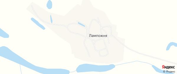 Карта деревни Лампожни в Архангельской области с улицами и номерами домов