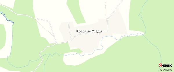 Карта села Красные Усады города Семенова в Нижегородской области с улицами и номерами домов
