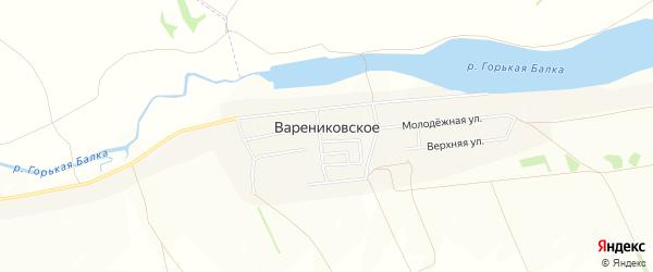 Карта Варениковского села в Ставропольском крае с улицами и номерами домов