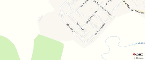 Южная улица на карте Инсара с номерами домов