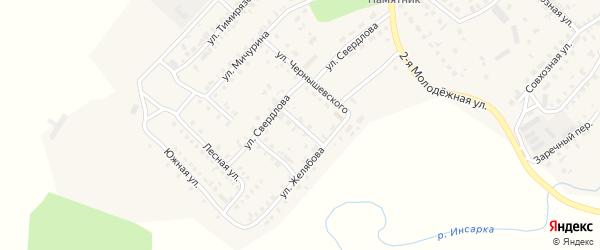 Переулок Желябова на карте Инсара с номерами домов