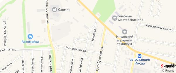 Новая улица на карте Инсара с номерами домов