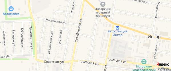 Красноармейский переулок на карте Инсара с номерами домов