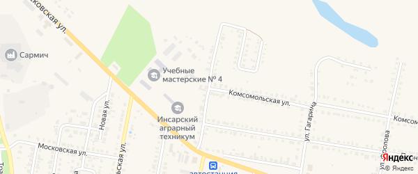 Садовый переулок на карте Инсара с номерами домов