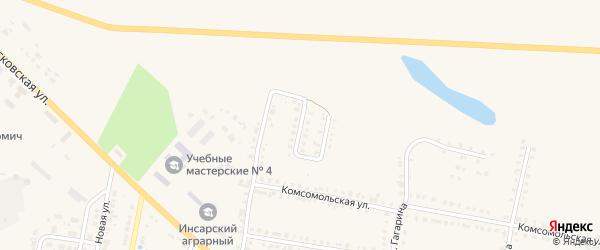Луговая улица на карте Инсара с номерами домов