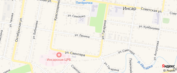 Улица Ленина на карте Инсара с номерами домов