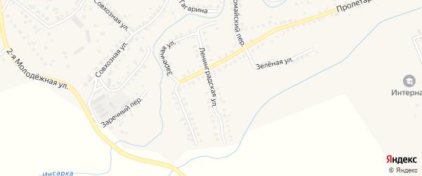 Ленинградская улица на карте Инсара с номерами домов
