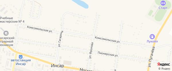 Комсомольская улица на карте Инсара с номерами домов