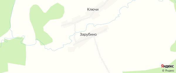 Карта деревни Зарубино города Семенова в Нижегородской области с улицами и номерами домов