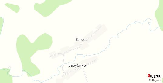 Карта деревни Ключи (Пафнутовский с/с) в Семенове с улицами, домами и почтовыми отделениями со спутника онлайн