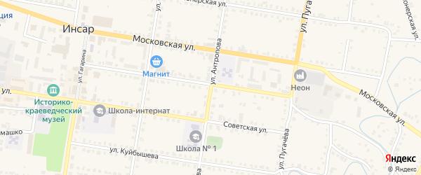 Улица Антропова на карте Инсара с номерами домов