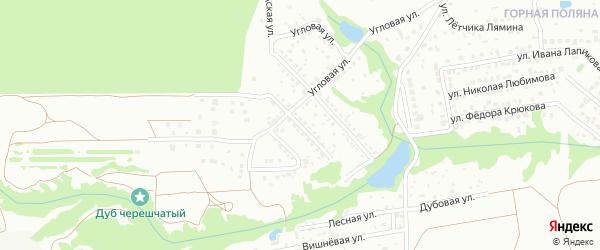 Улица им Александра Баскакова на карте территории Поселка Горной Поляны с номерами домов