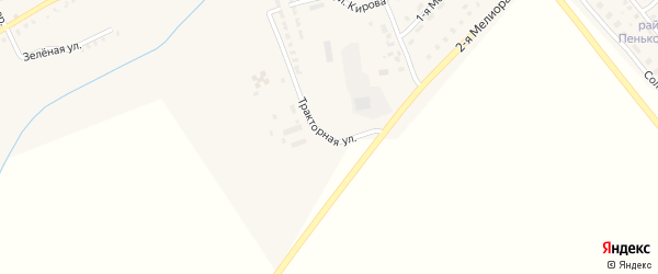 Тракторная улица на карте Инсара с номерами домов