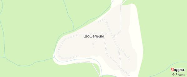 Карта поселка Шошельцы в Архангельской области с улицами и номерами домов