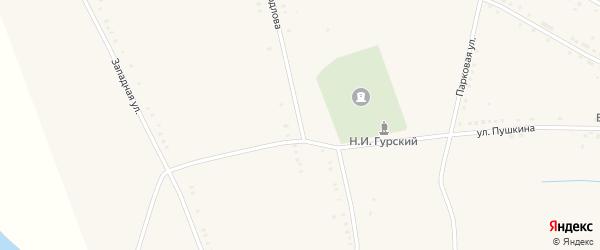 Улица Свердлова на карте села Ильменя Волгоградской области с номерами домов