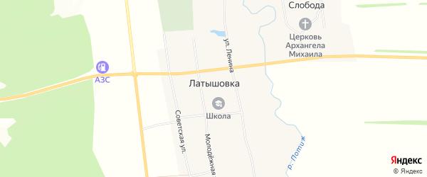 Карта села Латышовки в Мордовии с улицами и номерами домов