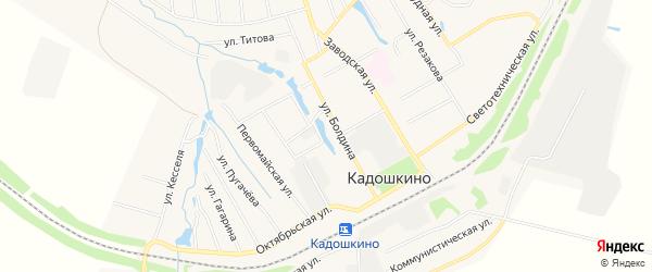 Карта поселка Кадошкино в Мордовии с улицами и номерами домов