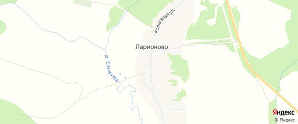 Карта деревни Ларионово города Семенова в Нижегородской области с улицами и номерами домов