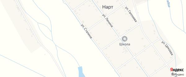 Улица Сталина на карте села Нарта Северной Осетии с номерами домов