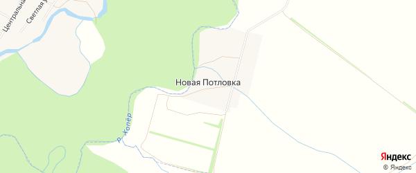 Карта деревни Новой Потловки в Пензенской области с улицами и номерами домов