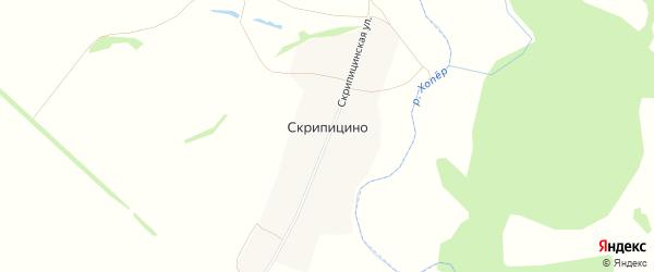 Карта села Скрипицино в Пензенской области с улицами и номерами домов