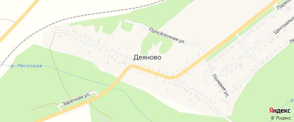 Территория СДТ Арматурный завод на карте деревни Деяново с номерами домов