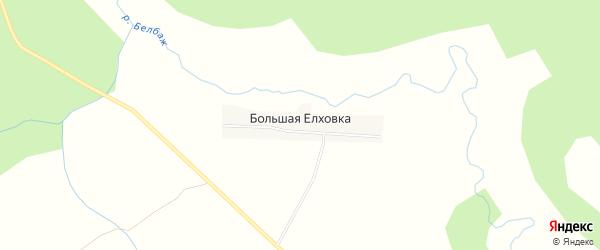 Карта деревни Елховка (Сухобезводнинский с/с) города Семенова в Нижегородской области с улицами и номерами домов