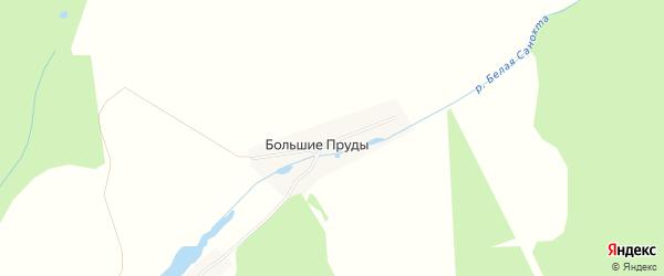 Карта деревни Большие Пруды города Семенова в Нижегородской области с улицами и номерами домов
