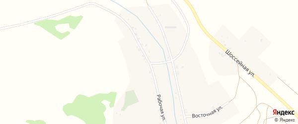 Рабочая улица на карте села Хурикау Северной Осетии с номерами домов