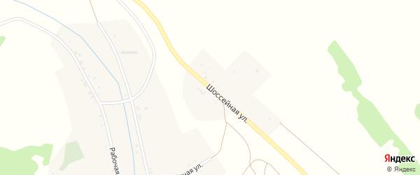 Шоссейная улица на карте села Хурикау Северной Осетии с номерами домов