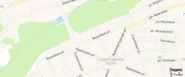 Вишневая улица на карте Семенова с номерами домов