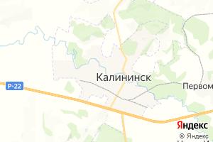 Карта г. Калининск Саратовская область
