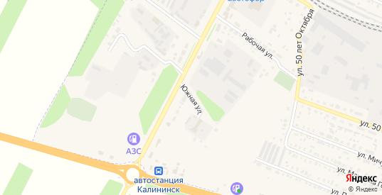 Южная улица в Калининске с номерами домов на карте. Спутник и схема онлайн