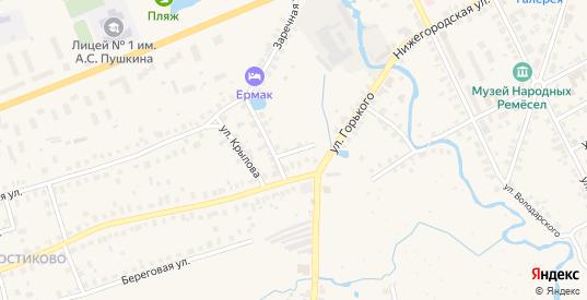 Улица Гоголя в Семенове с номерами домов на карте. Спутник и схема онлайн