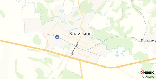 Карта Калининска с улицами и домами подробная. Показать со спутника номера домов онлайн