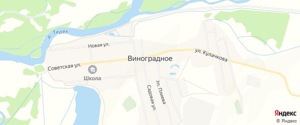 Карта Виноградного села в Северной Осетии с улицами и номерами домов