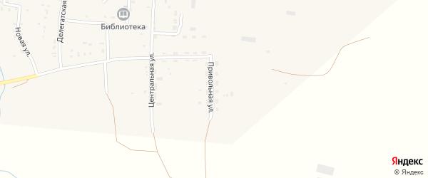 Привольная улица на карте села Киреево Волгоградской области с номерами домов