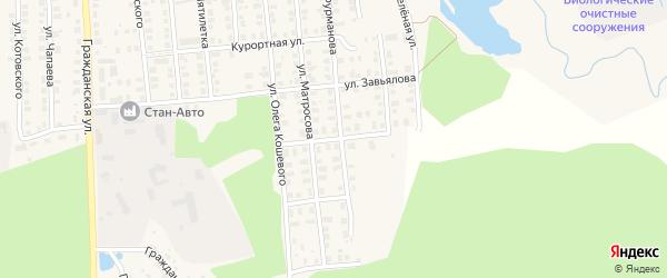 Молодежная улица на карте деревни Кулагино с номерами домов
