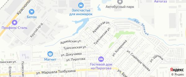 Улица им лейтенанта Шмидта на карте Волгограда с номерами домов