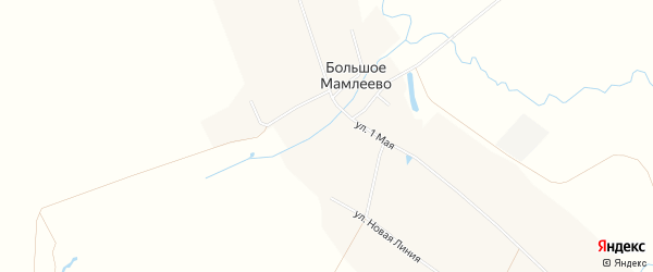 Карта села Большое Мамлеево в Нижегородской области с улицами и номерами домов
