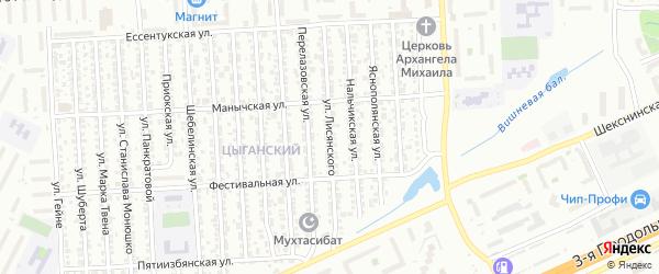 Улица им Лисянского на карте Волгограда с номерами домов