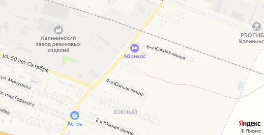 Южная 5-я линия в Калининске с номерами домов на карте. Спутник и схема онлайн