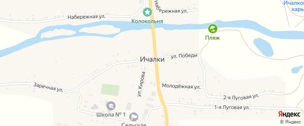 Территория Промзона на карте села Ичалки с номерами домов