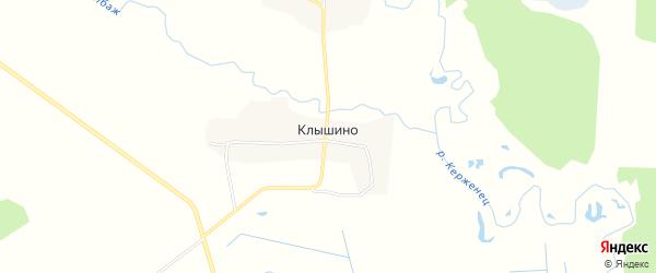 Карта деревни Клышино города Семенова в Нижегородской области с улицами и номерами домов