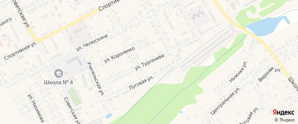Улица Тургенева на карте Семенова с номерами домов