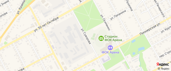 Улица Суворова на карте Семенова с номерами домов
